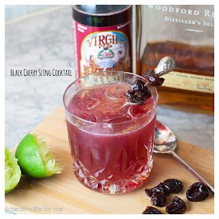 Black Cherry Sling Cocktail.