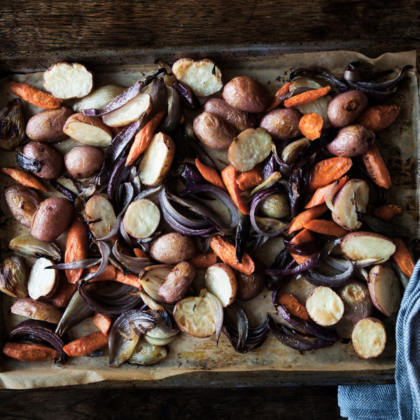 Roasted Potatoes, Onions, and Carrots Recipe