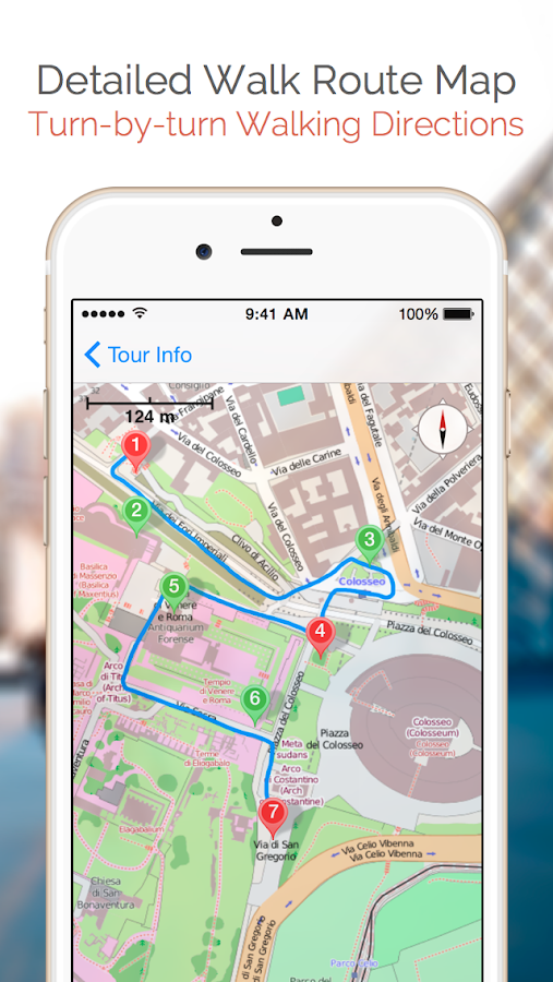 Rome Map And Walks Android Apps On Google Play - Rome tourist map attractions