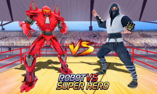 Robot vs Superhero Wrestling: Robot Fighting Games ss2