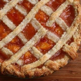 First-Prize Peach Pie with Lattice Crust