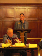 Photo: John Zeaphey speaks about the Red Fez