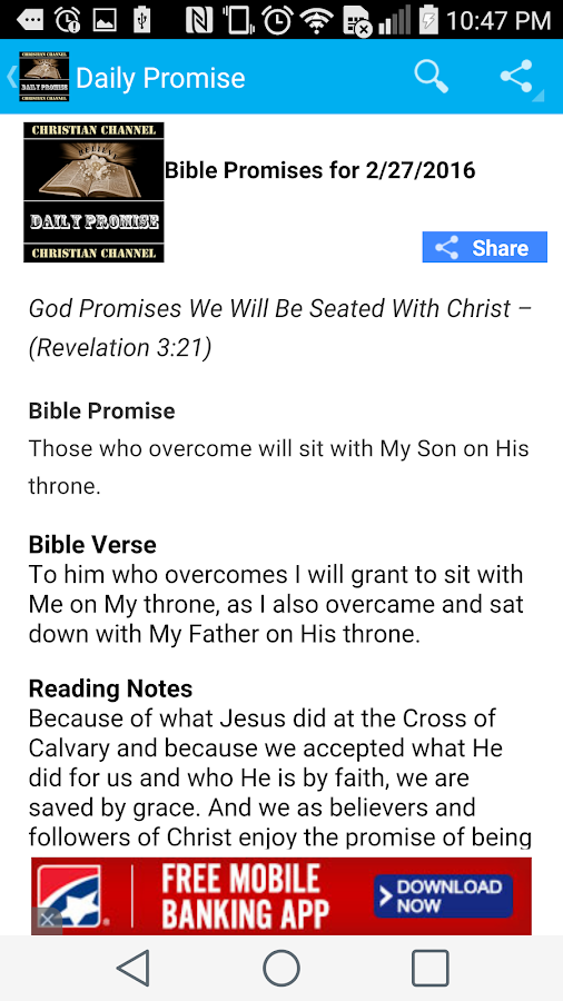 Daily Bible Promise Devotional- screenshot