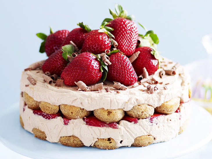 Chocolate Marsala Cake with Strawberries and Mascarpone Recipe