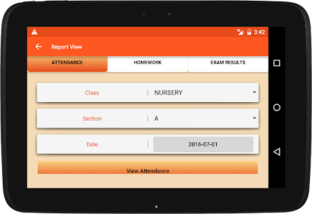 School Management app software- screenshot thumbnail