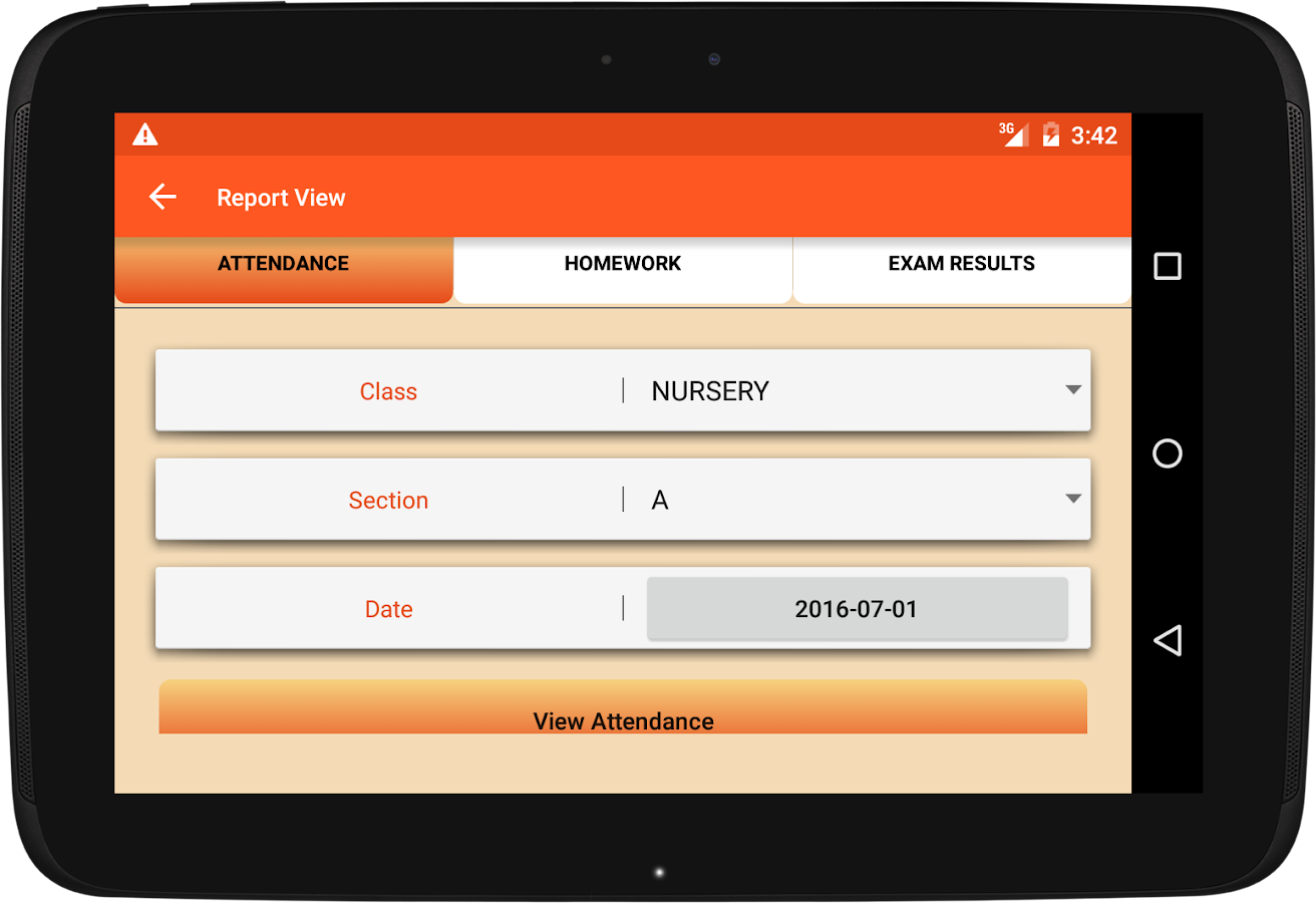 School Management app software- screenshot