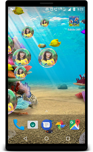 Bubble photo live wallpaper with aquarium ss1
