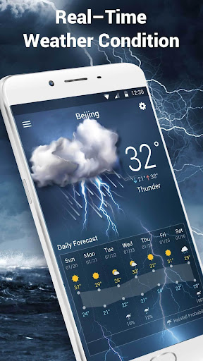 monthly weather&precipitation screenshot
