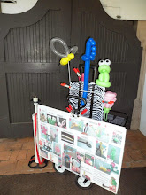 Photo: Here is Heidi's balloon display board and set up.Book Heidi by calling 888-750-7024