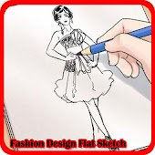 Fashion Design Flat Sketch