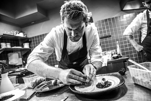 Michelin-star chef Jan Hendrik van der Westhuizen at work.
