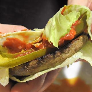 4 Ingredient Sriracha Salsa Bunless Turkey Burger