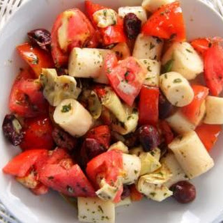 Palm Hearts, Tomato and Artichoke Salad