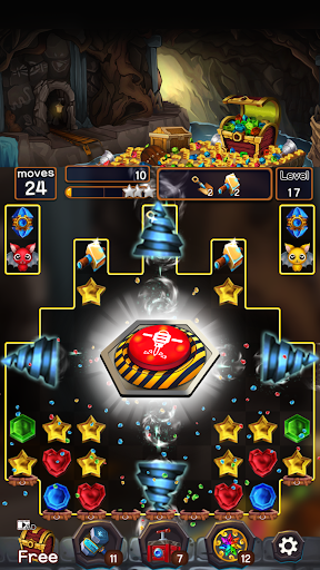 Jewel Mine Quest: Match-3 puzzle apkmr screenshots 4