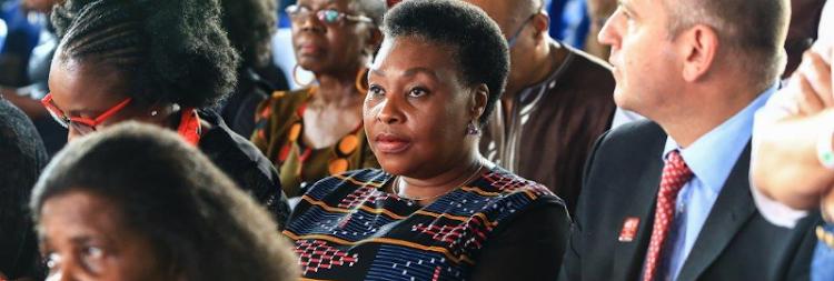 Singer-songwriter Yvonne Chaka Chaka attended Bra Hugh Masekela's memorial.