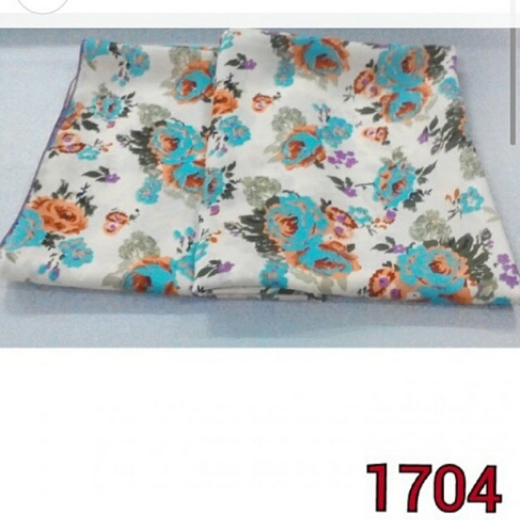 1704 roses square scarf orange/blue by PF LIMITED