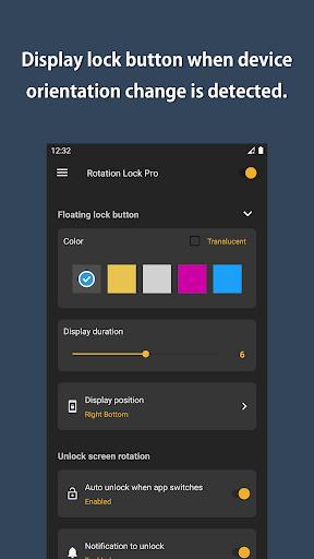 Rotation Lock Pro screenshot 2