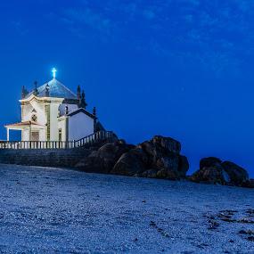 Senhor da pedra by Carlos Costa - Buildings & Architecture Places of Worship ( church, beach, senhor da pedra, portugal, faith, stones )