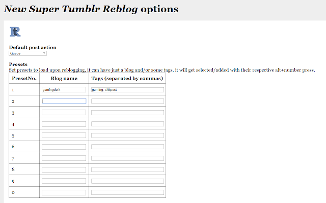 New Super Tumblr Reblog