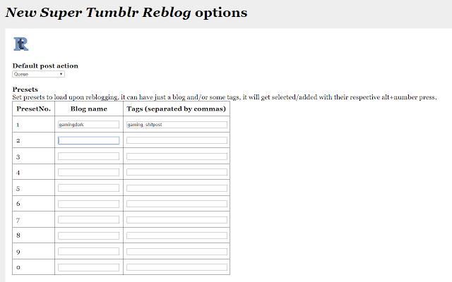 New Super Tumblr Reblog