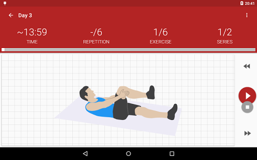 Abs workout A6W - flat belly at home screenshot 11