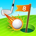 flying golf icon