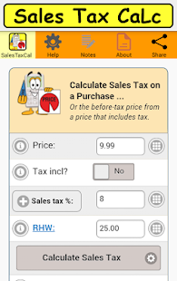 SalesTaxCalc2- screenshot thumbnail