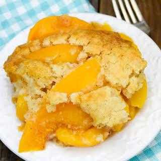 Bisquick Peach Cobbler.