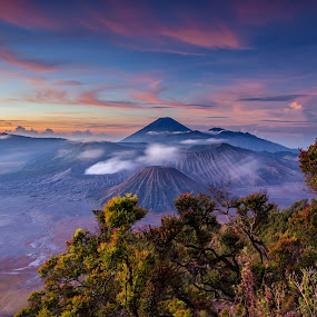 Bromo Mountain Sunrise by Rivan Indra - Landscapes Mountains & Hills ( clouds, mountain, sky, nature, indonesia, sunrise, landscape,  )