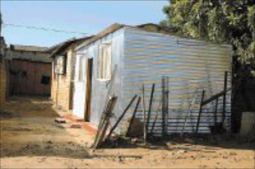 NO REFUGE: The house in Chiawelo that is in dispute between the owner and Nelly Mbokota. Pic. Mabuti Kali. 23/04/07.  Sunday World.
