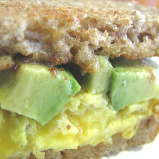 Avocado and Egg Sandwich with Tillamook Cheddar on Whole Wheat.