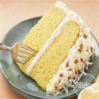 Coconut Pineapple Frosted Cake.