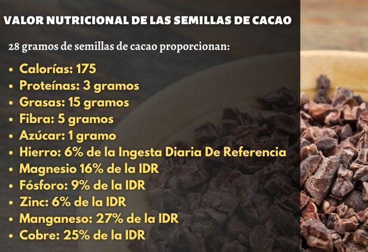 Valor Nutricional De Las Semillas De Cacao