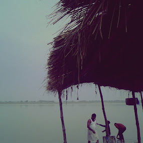 worship.. by Shafaly Sharma - Public Holidays Other ( water, religion, seashore, people )