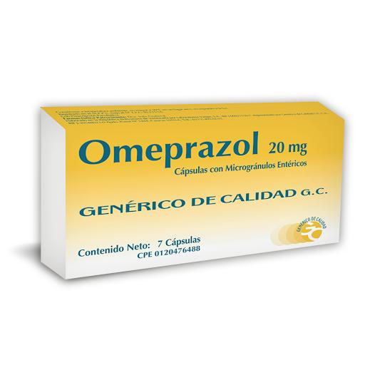 Omeprazol 20mg 7capsulas   Generico de Calidad OMEPRAZOL (20 MG)