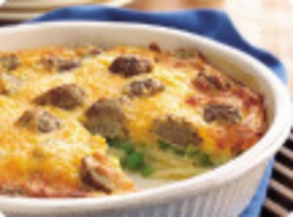 Easy Cheesey Meatball Pie Recipe