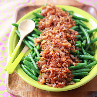 Sautéed Green Beans with Smoky Shallots.