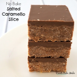 TTNo Bake Salted Caramello Slice
