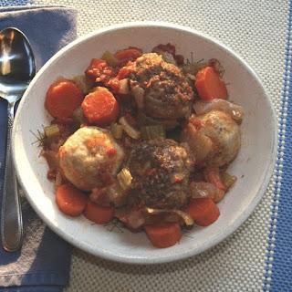 Passover Meatball Matzo Ball Stew