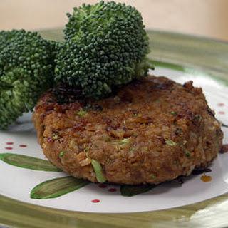 Vegan Chickpea Brown Rice Burgers.