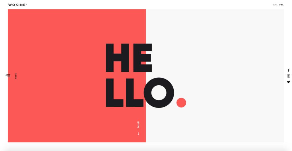 Punto focal único minimalismo en el diseño web