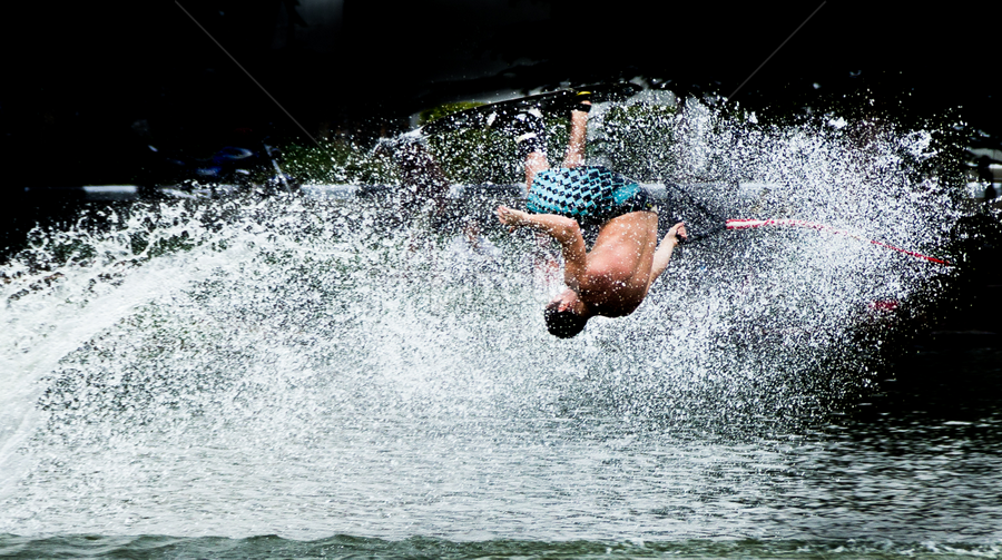 jumping 1 by Frederiko Ferry - Sports & Fitness Watersports ( ski, water ski, pwcwatersports, jumping, water sport, action, in action, sport, people, man, jump )