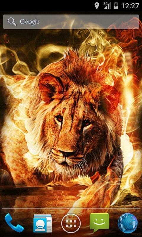 Скриншот Fire Lion Live Wallpaper