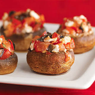 Greek-Style Stuffed Mushrooms.