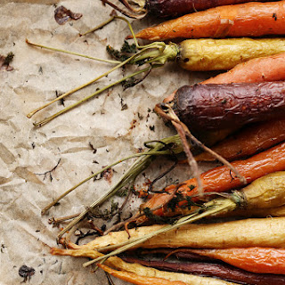 Roasted Rainbow Carrots.