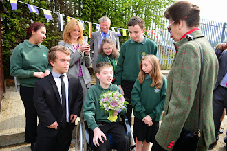 Photo: Meeting Bushey Meads School students