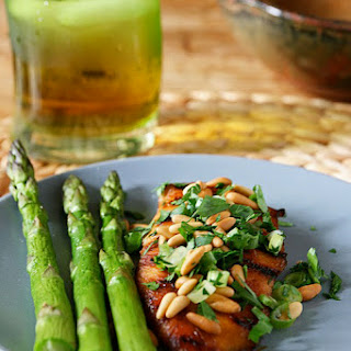 Balsamic Chicken with Pine nuts
