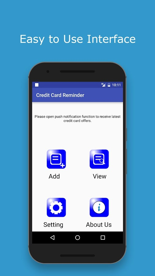 Credit Card Reminder- screenshot