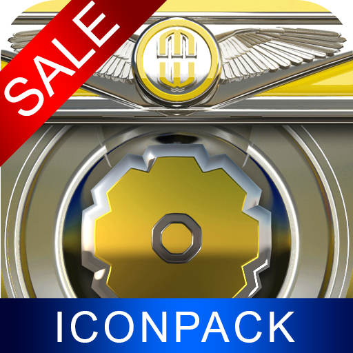 Yellow Gear HD Icon Pack