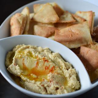 My Favorite Hummus & Parmesan Pita Chips